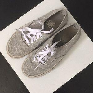 Vans silver sparkle sneakers